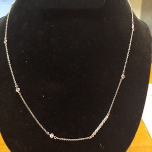 Jewelry - 16 inch Sterling Silver w/crystals necklace